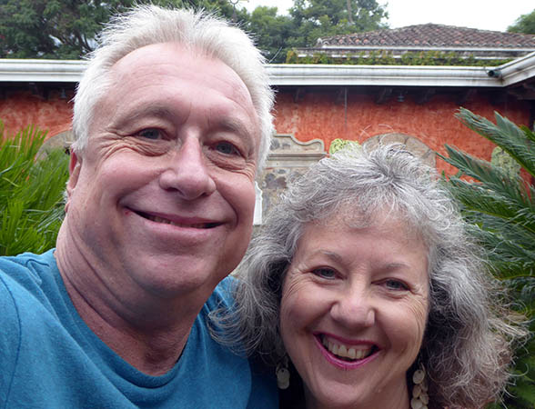 Billy and Akaisha in Antigua, Guatemala