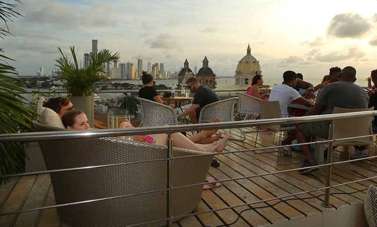 Roof Top Bar Cartagena, Colombia