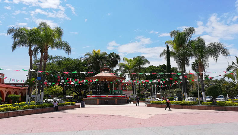 The Plaza in downtown Chapala