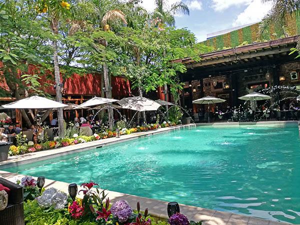 Swimming pool at Hacienda La Labrocilla, Queretaro City, Mexico