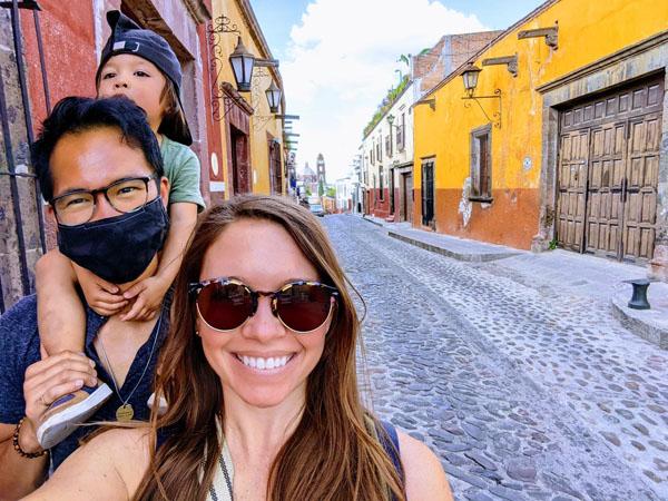 Taking a walk in San Miguel de Allende
