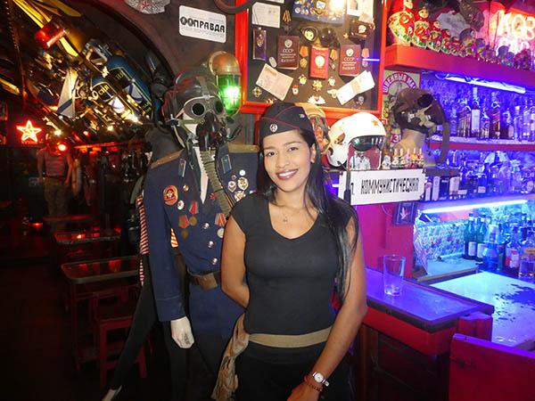 Gorgeous waitress KGB Russian Bar, Cartagena, Colombia