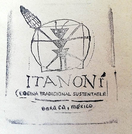 Itanoni seal, Itanoni Tortilleria, Oaxaca, Mexico