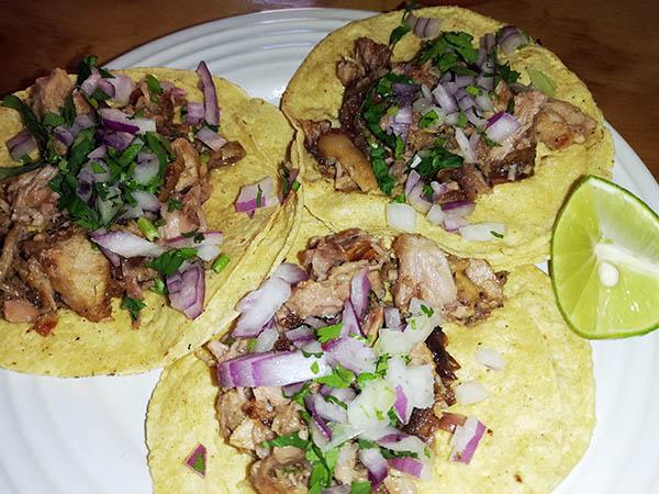 Costillo tacos at Ay Chinete! Cafe, Oaxaca, Mexico