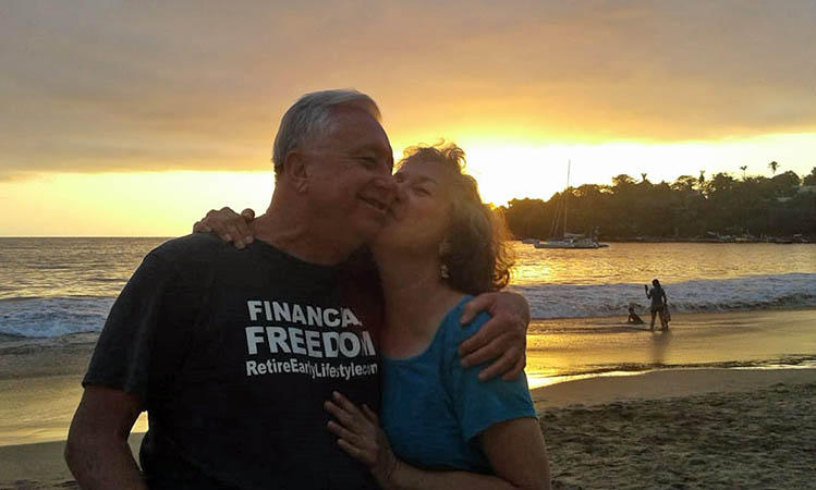 Billy and Akaisha on Chacala Beach, Nayarit, Mexico