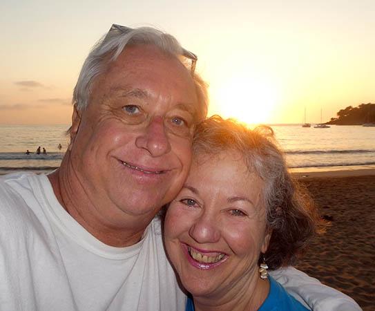 Akaisha and Billy at Chacala Beach, Nayarit, Mexico