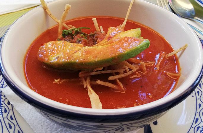 Tortilla Soup, Porfiriana Restaurant, Puebla, Mexico