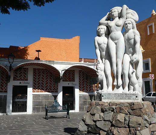 Genesis statue, Puebla, Mexico