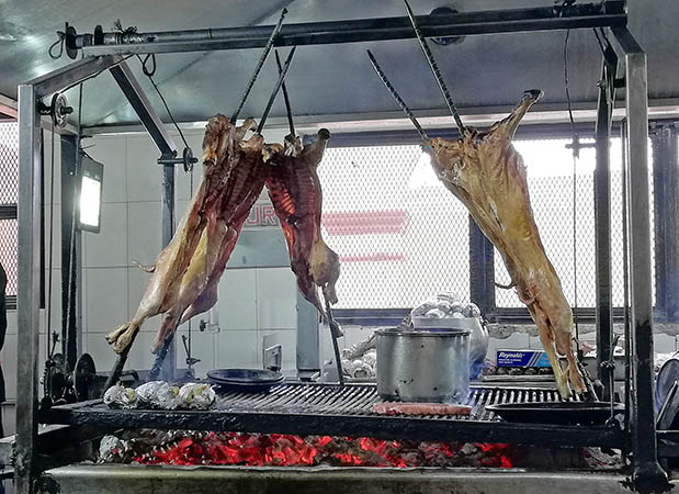 Baby goats on the grill, Steak Palenque, Torreon, Cuahuila, Mexico