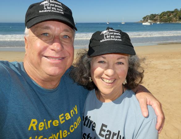 Billy and Akaisha Kaderli Chacala beach Mexico