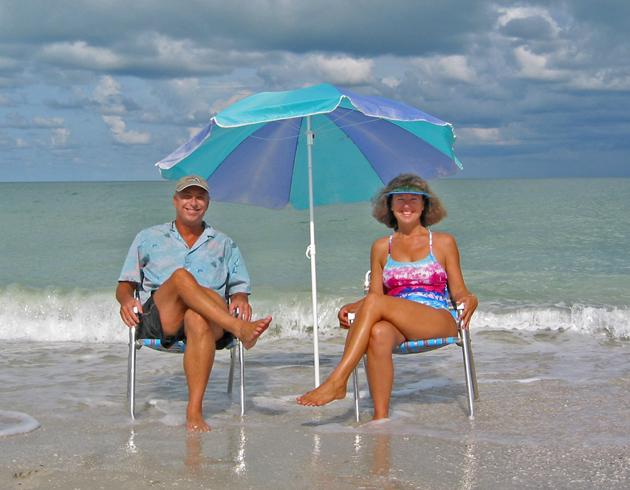 Billy and Akaisha on the beaches of Naples, Florida