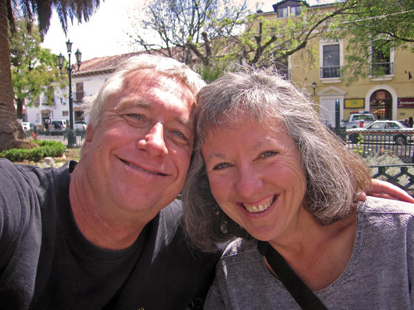 Billy and Akaisha in Antigua, Guatemala