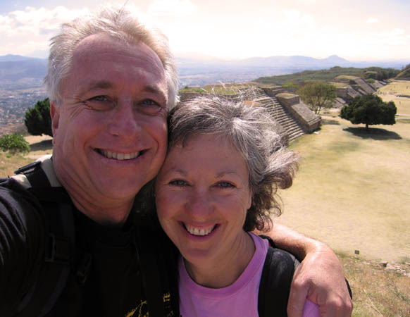 Akaisha and Billy at Monte Alban in Oaxaca, Mexico