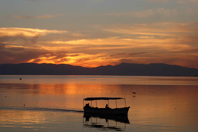 Watching the Sunset on Lake Chapala is a popular pastime with locals and Expats. Mexico