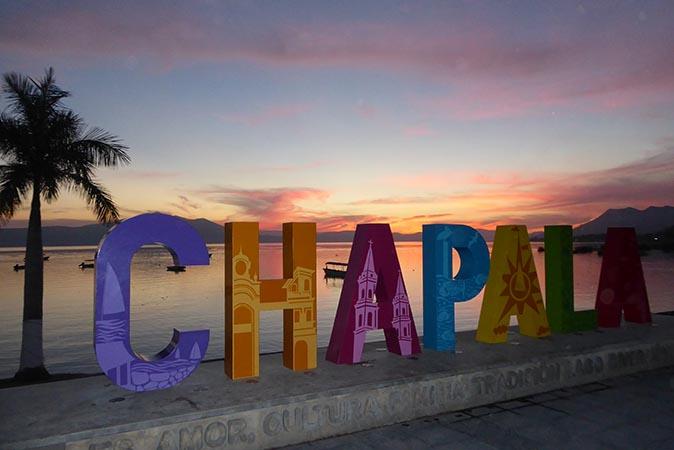 Lake Chapala at sunset