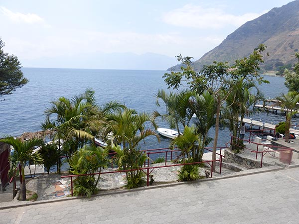 View of Lake Atitlan from Hotel Nuestro Sueno