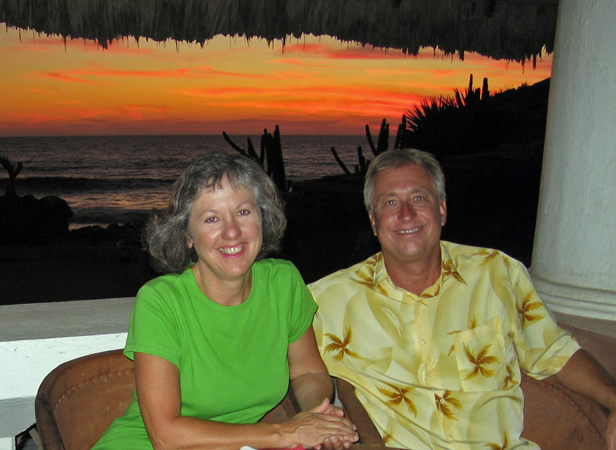 Billy and Akaisha relaxing in Puerto Escondido, Mexico