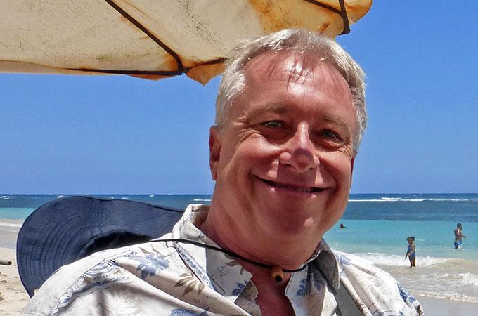 Billy enjoying the beach
