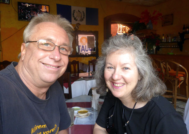 Billy and Akaisha Taking a break in Antigua, Guatemala