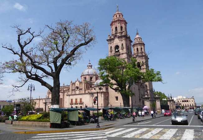 Day time view Morelia, Mexico Cathedral