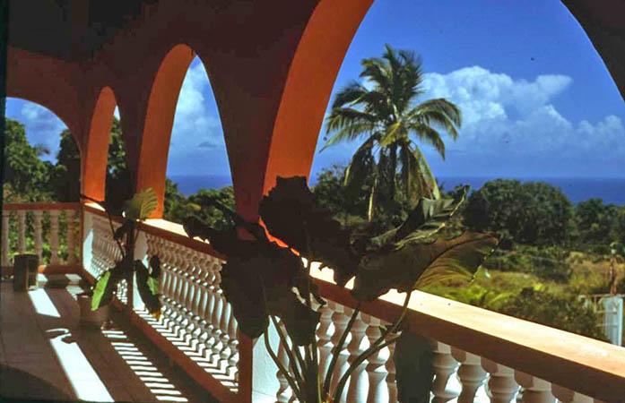 Front porch on Nevis, West Indies