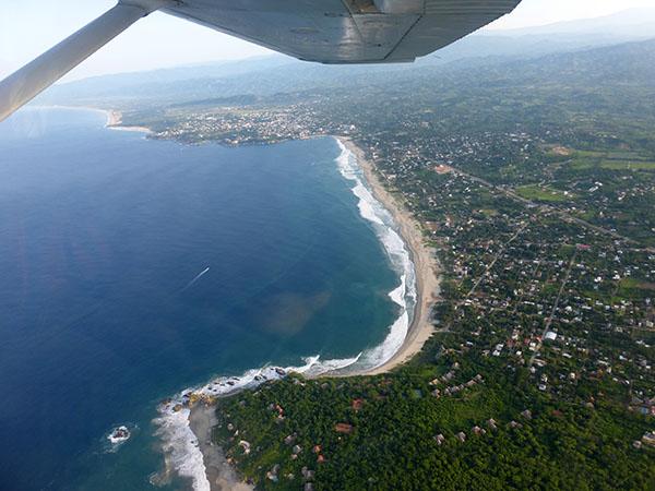Entering the beach area of Puerto Escondido