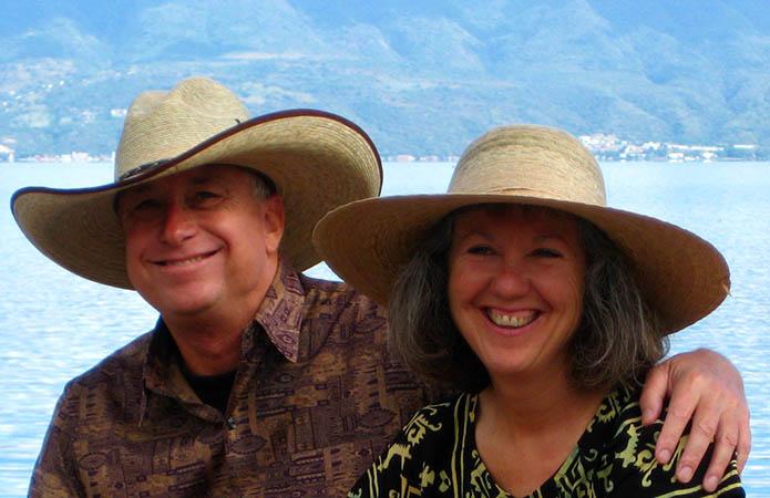 Billy and Akaisha On the South Shore of Lake Chapala