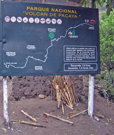 Hiking up Volcan Pacaya