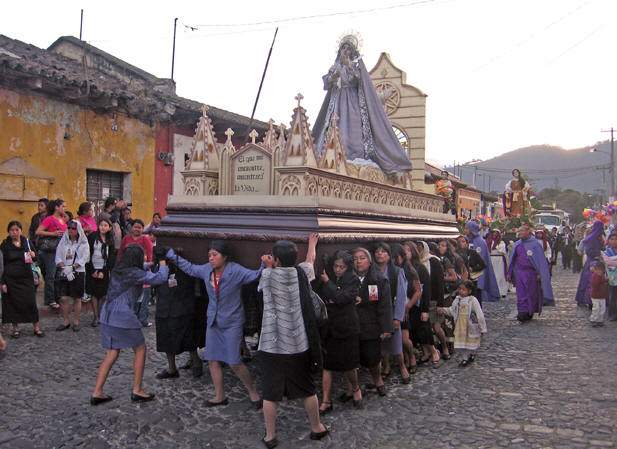 This float is carried by the women in the city