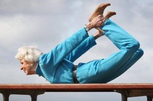 Enjoying Yoga at age 85
