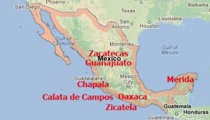 Lots of places to choose in Mexico