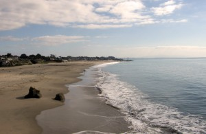 Wide expanse of beach, Santa Cruz, Califoria