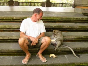 Making friends in Bali, Indonesia