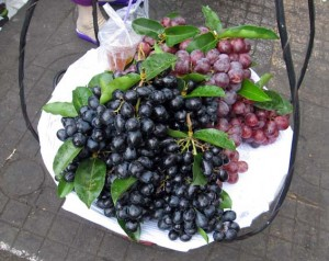 grapes on the street