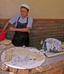 Quesadillas being made on the street in Mexico