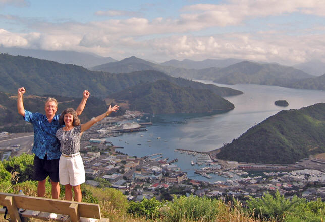 Akaisha and Billy in Picton, New Zealand