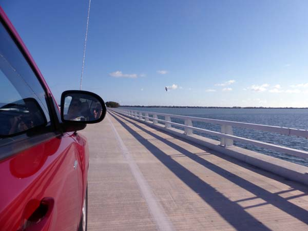 Crossing over the Gulf of Mexico to Sanibel Island