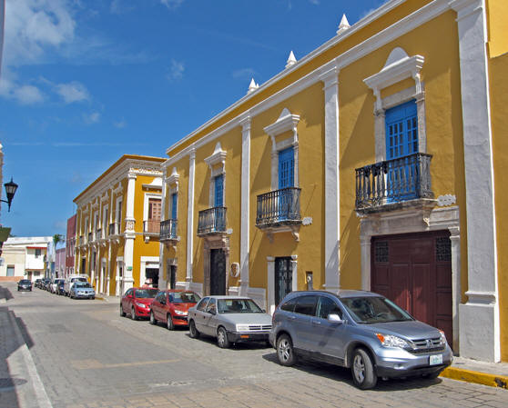Old restored Colonial Facades