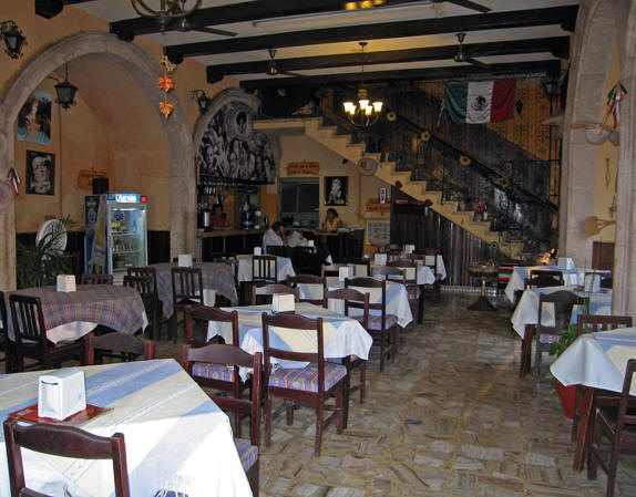 A more traditional style of restaurant