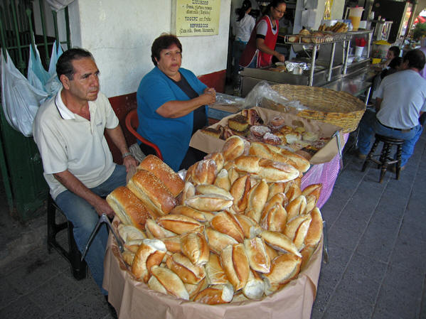 Fresh bolios and other styles of bread