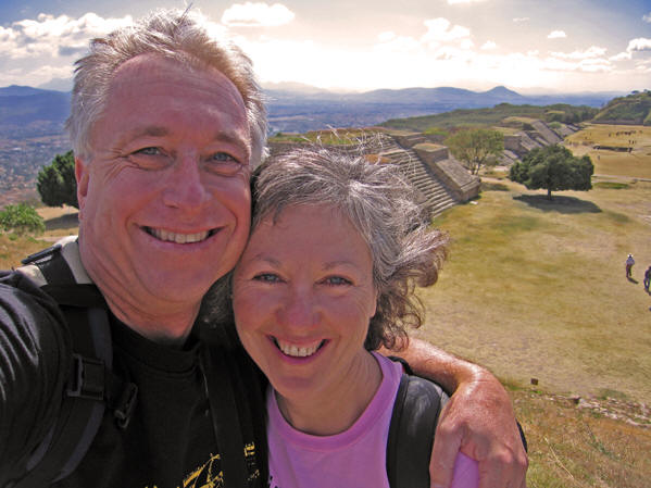 Billy and Akaisha Exploring Monte Alban, Mexico
