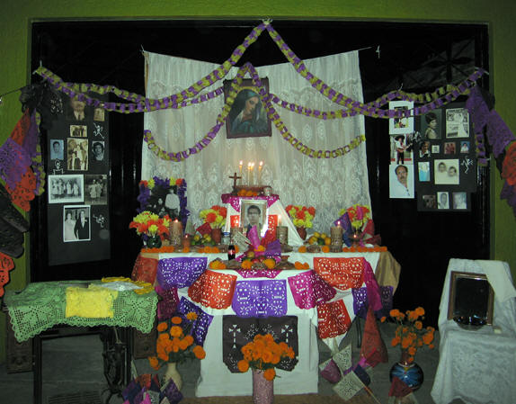 A group memorial. Days of the Dead, Chapala, Mexico