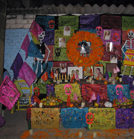 Family photos of those who have gone before. Days of the Dead, Chapala, Mexico