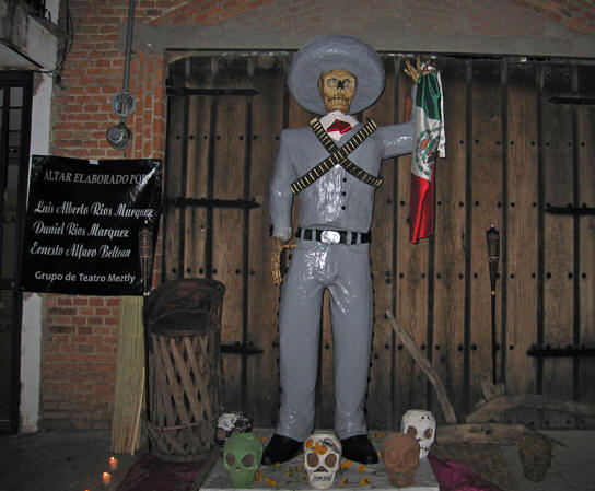 A male Catrina warrior. Days of the Dead, Chapala, Mexico
