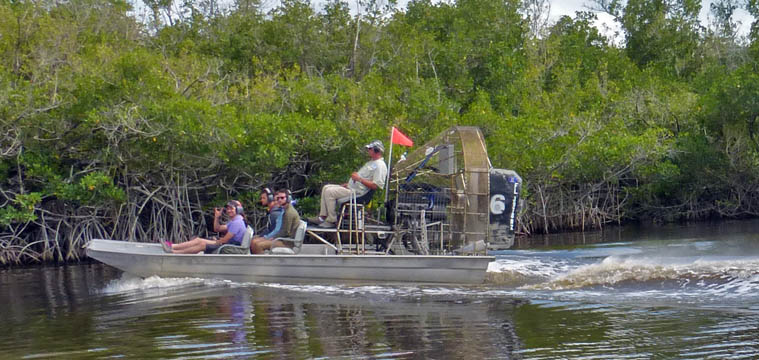 Airboats replaced swamp buggies