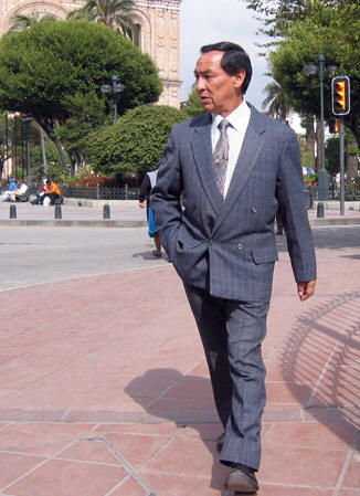 Businessman in Cuenca's business district