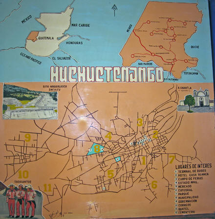 this map that we are in the Guatemalan State of Huehuetenango.