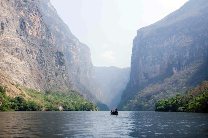 A boat ride through Sumidero Canyon, Chiapas, Mexico