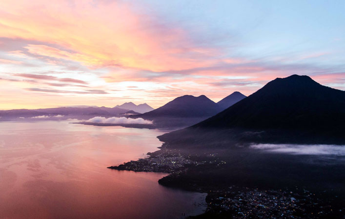 Sunrise over Lake Atitlan, Guatemala