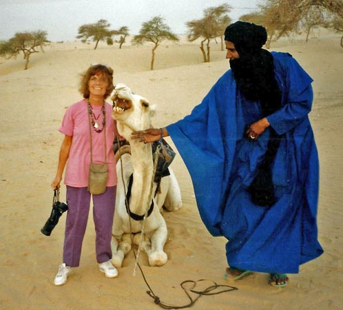 My camel and camel guide in Timbuktu, Mali